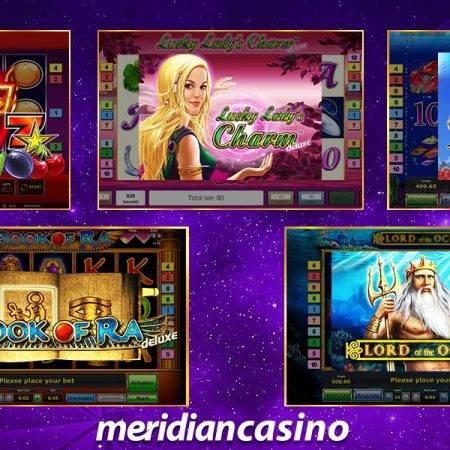 ¡Disfruta las tragamonedas más populares en Meridian Casino!