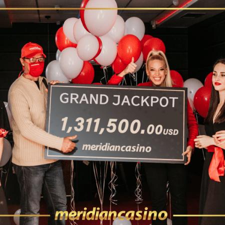 Gran premio en Meridian Casino: ¡jugador gana más de 1 millón 300 mil dólares!