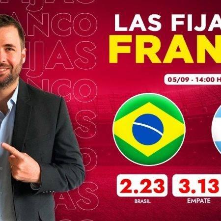 Las fijas del Brasil vs Argentina: Eliminatorias Sudamericanas